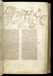 Added 14th-Century Drawing Of A Battle Scene, In Matthew Paris's 'Lives Of The Offas'